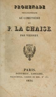 Cover of: Promenade philosophique au cimetière du p. La Chaise