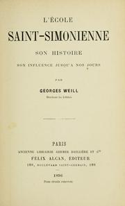 Cover of: L' école saint-simonienne