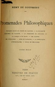 Cover of: Promenades philosophiques.