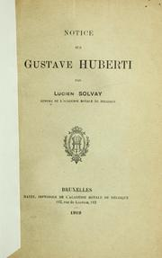 Cover of: Notice sur Gustave Huberti