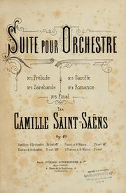 Cover of: Suite pour orchestre ...