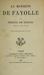 Cover of: Le marquis de Fayolle