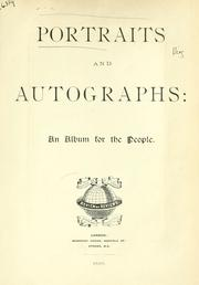 Cover of: Portraits and autographs