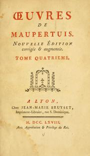 Cover of: uvres de Maupertuis.