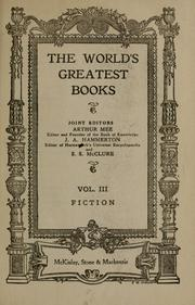 Cover of: The World's Greatest Books, Vol. III: Fiction