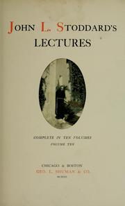 Cover of: John L. Stoddard's lectures.
