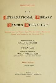 Cover of: The International library of famous literature