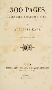 Cover of: 300 pages, mélanges philosophiques.