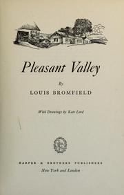 Cover of: Pleasant Valley