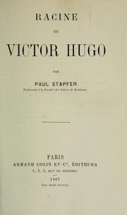 Cover of: Racine et Victor Hugo