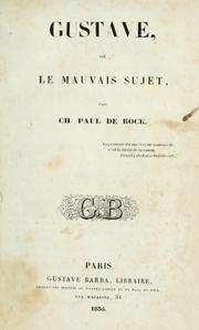 Cover of: Gustave: ou, le mauvais sujet