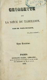 Cover of: Georgette: ou, La niece du Tabellion