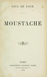 Cover of: Moustache
