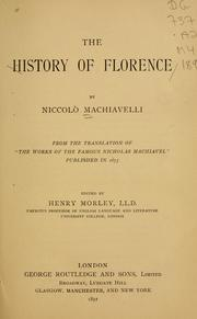 Cover of: The history of Florence