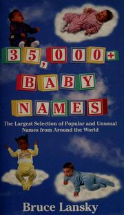 Cover of: 35,ooo+ baby names.