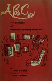 Cover of: ABC for collectors of American contemporary art