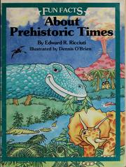 Cover of: About prehistoric times