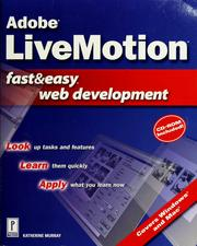 Cover of: Adobe LiveMotion fast & easy Web development