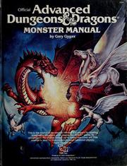 Cover of: Advanced Dungeons and Dragons Monster Manual: special reference work.