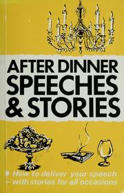Cover of: After dinner speeches and stories.