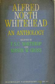 Cover of: Alfred North Whitehead: an anthology