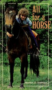 Cover of: All for a horse