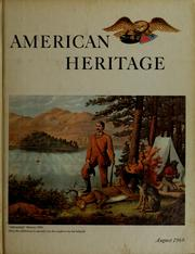 Cover of: American Heritage, the magazine of history.