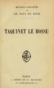 Cover of: Taquinet le bossu