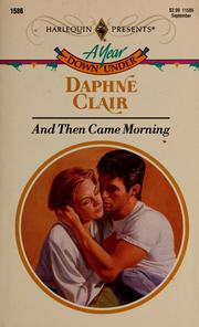 Cover of: And Then Came Morning