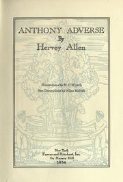 Cover of: Anthony Adverse.