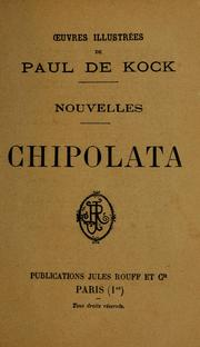 Cover of: Chipolata : nouvelles
