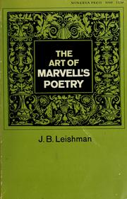 Cover of: The art of Marvell's poetry.