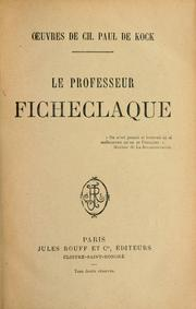 Cover of: La professeur Ficheclaque