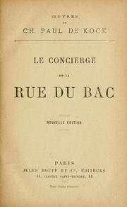 Cover of: La concierge de la rue du bac