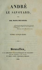Cover of: André le Savoyard