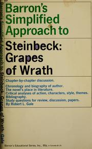 Cover of: Barron's simplified approach to The grapes of wrath [by] John Steinbeck