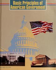 Cover of: Basic principles of American government
