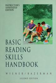 Cover of: Basic reading skills handbook