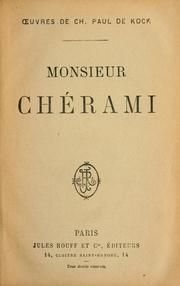 Cover of: Monsieur Chérami