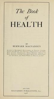 Cover of: The book of health
