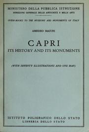 Cover of: Capri: its history and its monuments