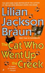 Cover of: The cat who went up the creek