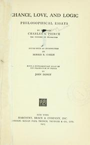 Cover of: Chance, love, and logic: philosophical essays
