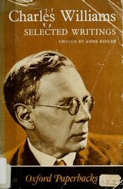 Cover of: Charles Williams: Selected writings