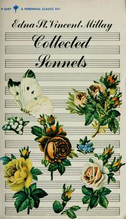 Cover of: Collected sonnets of Edna St. Vincent Millay.