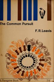 Cover of: The common pursuit