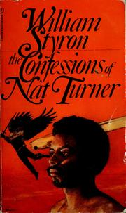 Cover of: The confessions of Nat Turner