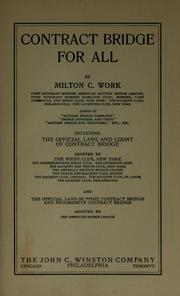 Cover of: Contract bridge for all