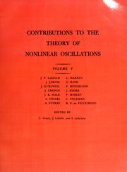 Cover of: Contributions to the theory of nonlinear oscillations.