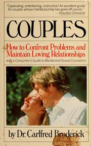 Cover of: Couples: how to confront problems and maintain loving relationships
